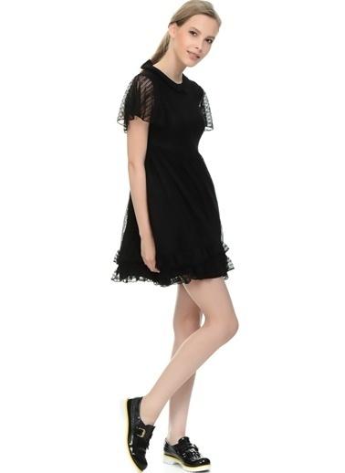 Motel Rocks Dantelli Mini Elbise Siyah